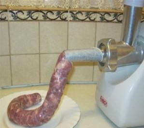 Домашняя колбаса из свинины - фото шаг 5