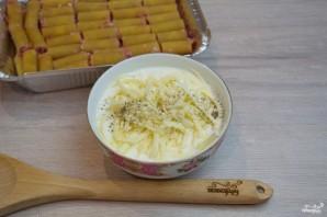 Макароны, фаршированные фаршем и сыром, в духовке - фото шаг 4
