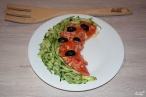 Салат в виде арбуза - фото шаг 7