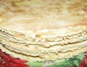 Торт на сковороде с заварным кремом - фото шаг 13