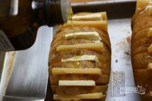 Картофельный веер с сыром - фото шаг 5