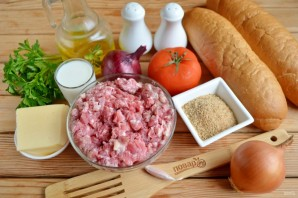 Сэндвич с мясными шариками - фото шаг 1