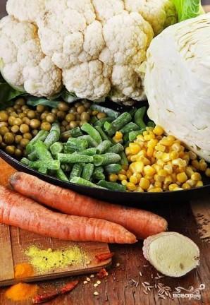 Слоеные пирожки с овощной начинкой - фото шаг 1