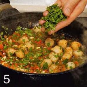 Жареные гребешки с рисом - фото шаг 5