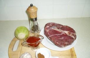 Тушеное мясо в мультиварке Редмонд - фото шаг 1