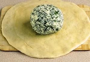 Осетинский пирог с творогом и сыром - фото шаг 3
