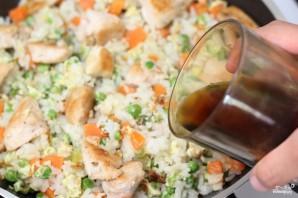 Жареный рис с курицей - фото шаг 9