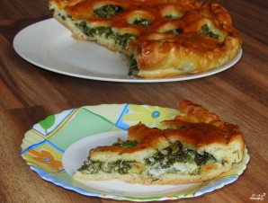 Пирог с моцареллой - фото шаг 8