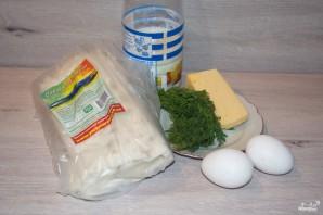 Пирог из лаваша с сыром в духовке - фото шаг 1
