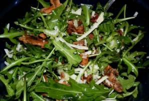 Салат с лисичками и зеленью - фото шаг 7