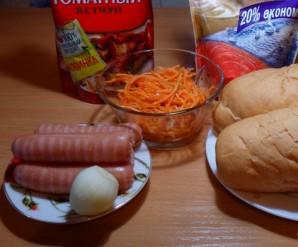 Хот-дог с корейской морковкой - фото шаг 1