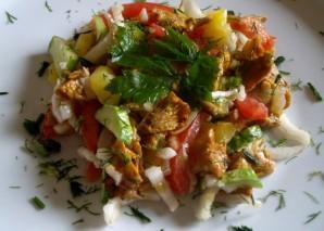 Салат с лисичками и картофелем - фото шаг 4