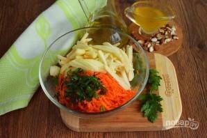 Салат из моркови и яблока - фото шаг 2