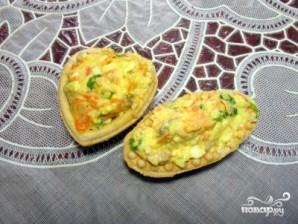 Салат из печени трески в тарталетках - фото шаг 4