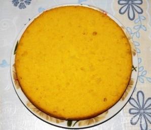 Торт бисквитный с фруктами - фото шаг 7