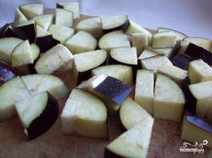 Фасоль с баклажанами - фото шаг 2