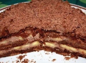 Шоколадно-банановый торт из пряников - фото шаг 6