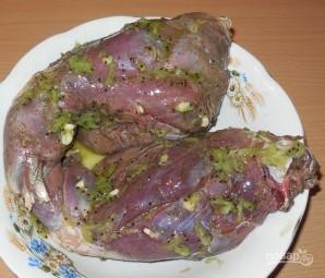 Заяц запеченный в духовке - фото шаг 4