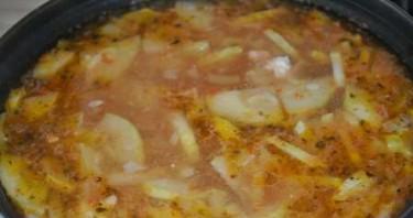 Суп с кабачками и курицей - фото шаг 6