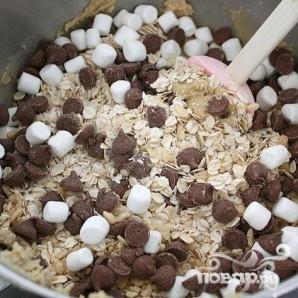 Печенье с овсяными хлопьями и шоколадом - фото шаг 5