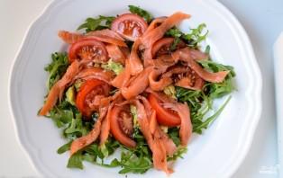 Салат с рукколой и лососем - фото шаг 3