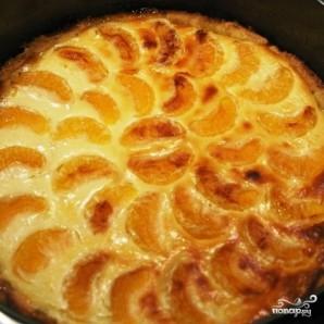 Творожный пирог с мандаринами - фото шаг 8