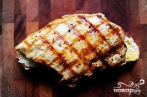 Горячие бутерброды с курицей и абрикосовым соусом - фото шаг 10