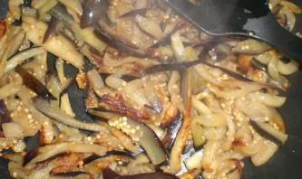 Синенькие с морковкой по-корейски - фото шаг 2