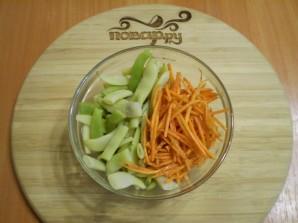 Салат с корейской морковью и фасолью - фото шаг 3