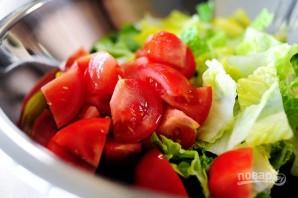 Греческий салат - фото шаг 4