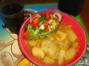 Тушеная картошка с болгарским перцем - фото шаг 6