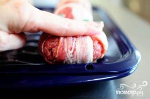Сэндвичи с фрикадельками в беконе - фото шаг 4
