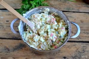 Крабовый салат рецепт классический - фото шаг 6