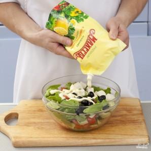 Летний салат по-гречески - фото шаг 3