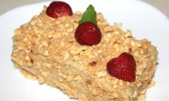 Бисквитный торт со сгущенкой - фото шаг 4