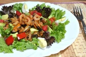 Салат с мидиями и креветками - фото шаг 7