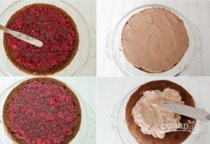 "Торт ""Прага"" из готовых коржей - фото шаг 7"