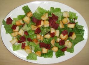 Клубный салат с креветками - фото шаг 4