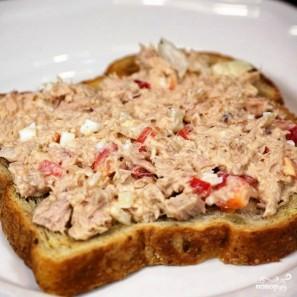 Сэндвичи с салатом из тунца - фото шаг 9