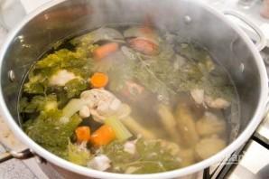 Вкусный куриный суп с лапшой - фото шаг 4