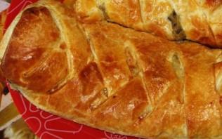 Слоеный пирог с грибами и картофелем - фото шаг 7