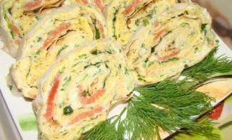 Лаваш с рыбой и плавленым сыром - фото шаг 6