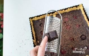 Шоколадный пирог с малиной - фото шаг 8