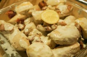Запеченная курица в сливочном соусе - фото шаг 5