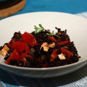 Черный рис с тофу и помидорами - фото шаг 6