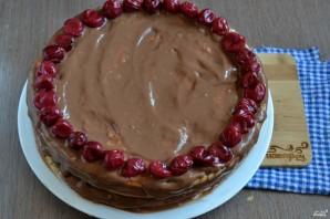 Шоколадный торт с вишней - фото шаг 7