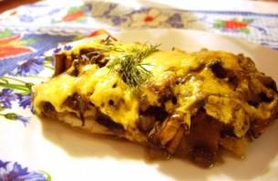 Рыба с грибами в духовке - фото шаг 5