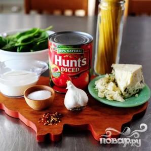 Паста с соусом из сыра и томатов - фото шаг 1