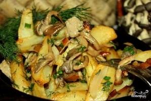 Вешенки, жареные с картошкой - фото шаг 8