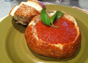 Томатный суп в хлебе - фото шаг 10